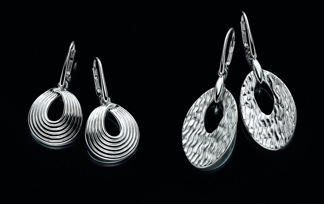 Ohrhänger aus rhodiniertem Silber