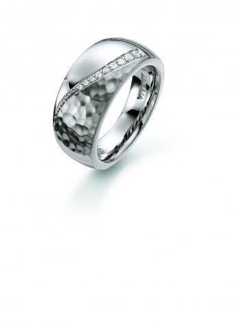 Ring aus rhodiniertem Silber mit Zirkonias