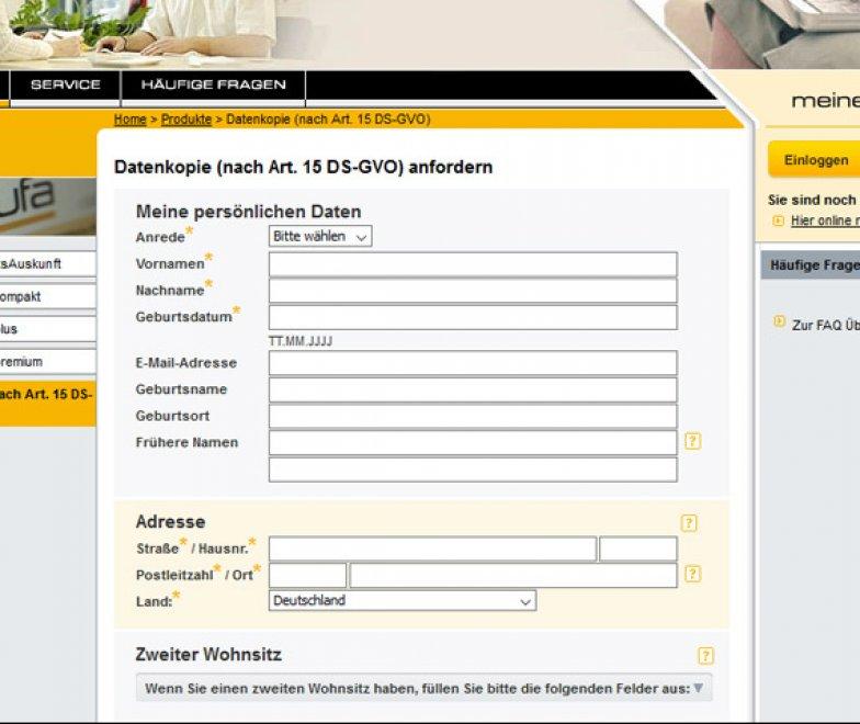 Schufa Auskunft kostenlos Berlin online Formular