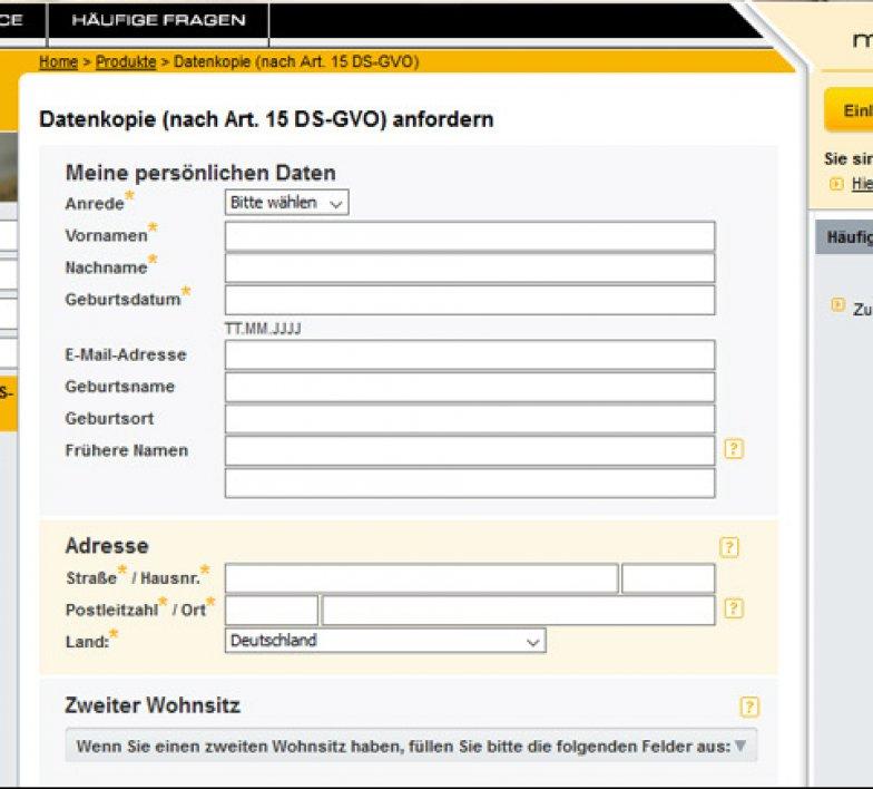 Schufa Auskunft Düsseldorf sofort kostenlos online Formular