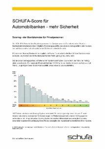 Schufa-Score Tabelle für Automobilbanken