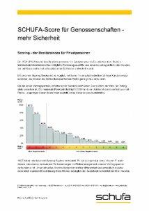 Schufa-Score Tabelle für Genossenschaftsbanken 2.0