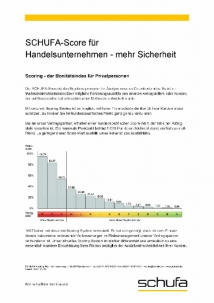 Schufa Score Tabelle - Handelsunternehmen