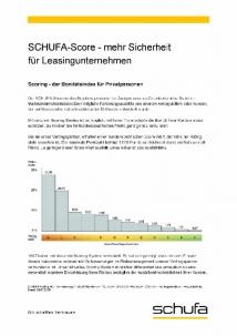 Schufa-Score Tabelle - Leasingunternehmen