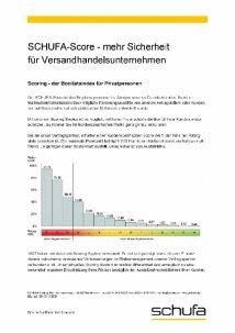 Schufa Score Tabelle für Versandhandelsunternehmen