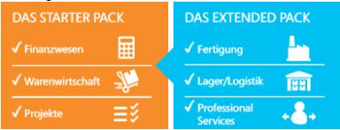 Starter Pack und Extended Pack Dynamics NAV 2018