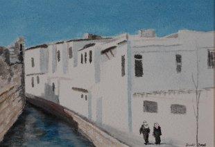 Damaskus, Syrien, 2008, Acryl 42 x 60 cm