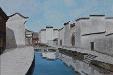 Huangshan, Anhui, China, 2006, Acryl 56 x 80 cm