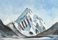 Karakorum 2, Pakistan, 2007, Acryl 56 x 80 cm