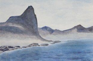 Hout Bay, Kapprovinz, Südafrika, 2007, Acryl 56 x 80 cm