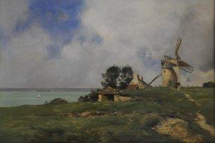 Antoine Guillemet, Morsaline, Öl auf Holz, 37 x 55 cm