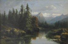 Alexandre Calame, Le Haslital, Öl auf Leinwand, 43 x 64 cm
