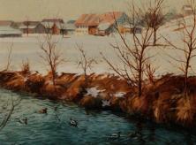 Eulach bei Hegi, 1981, Öl 29.5 x 35 cm