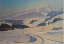 Säntis, 1968, Pastell 27 x 47 cm