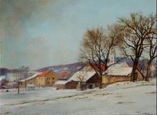 Wiesendangen, 1985, Öl 24 x 31 cm