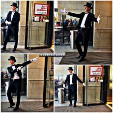 EventComedy Butler begrüßen Shopping Gäste